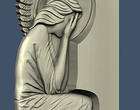 3d STL model for CNC Angel with your face covered