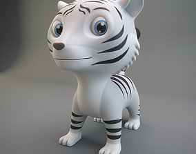 3D model realtime White Tiger