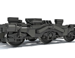 steam 3D model Train Wheels