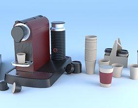 3D espresso machine coffee capsule caps