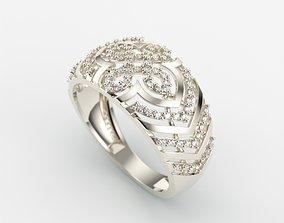Women Diamond ring design cross 3dm stl 3D print