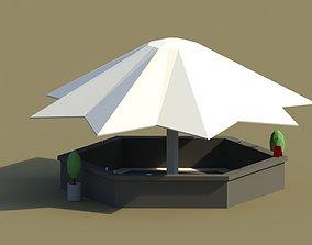 3D model Low Poly Summer Bar 2
