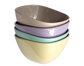 Modern Rectangular Bowls 3D