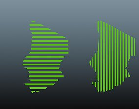 3D model CHAD map symbol 1