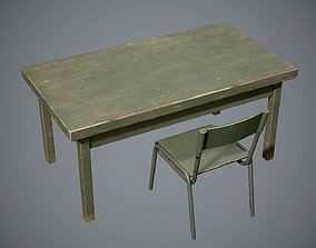 3D asset realtime Table and chair