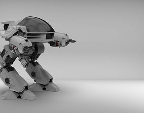3D model ED209 - Police Robot in High Poly