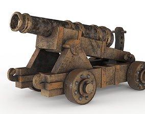 Battle Cannon 3D asset