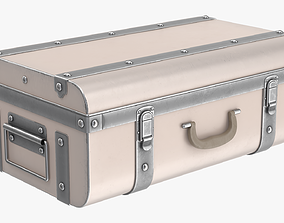 3D model Suitcase metal trunk with lock