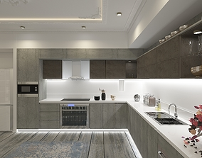 3D Modern kitchen ineterior