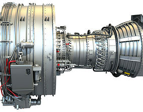 3D air Extremely Detailed Turbofan CFM56