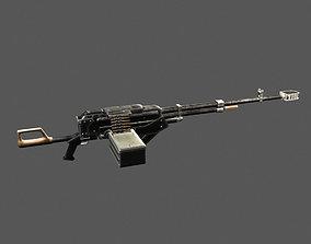 Kord machine gun game ready 3D asset