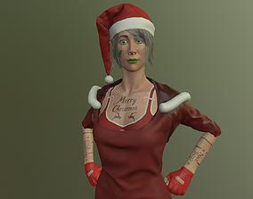 Santas girl 3D model