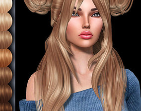 Tulsi Female hair style 3d rigged rigged