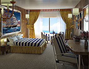 Ship cabin 3D model