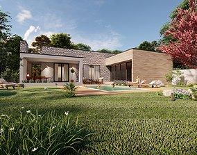 3D model modern design house casa istriana