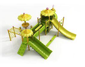 low-poly Children large amusement park toys 3D