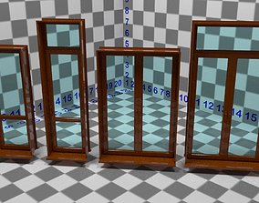 animated Windows and door collection 3D model