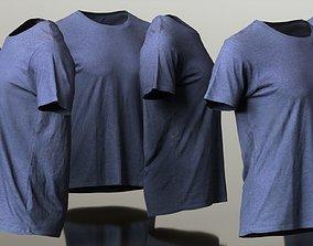 Mens Clothing Purple Tshirt 3D asset