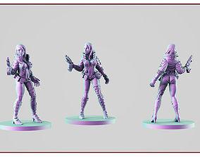 3D print model Cyber girl