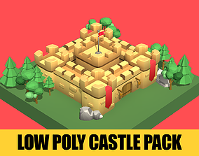 Low Poly Castle Pack 3D