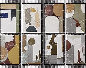 3D 42 wall frames modern art