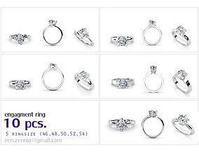 ENG SET 01 10 RINGS 5ringsize 3D printable model