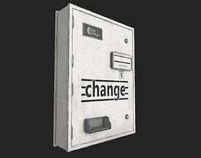 3D asset low-poly Change Machine PBR