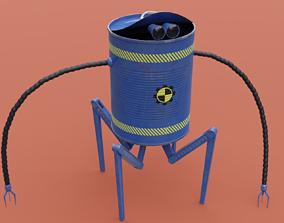 3D asset Robot Canned Spider Bot