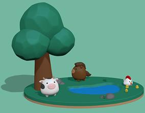 toy 3D printable model Little farm