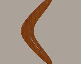 3D model low-poly Boomerang