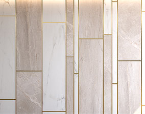 Marble Panel with Parquet 3 3D