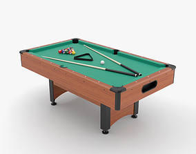 Pool Table set 3D model