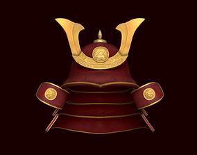 Samurai Helmet - Japanese Culture - Medieval 3D asset