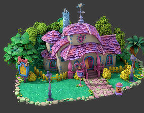 Fantasy Cartoon House 3D