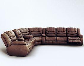 Corner sofa Ashley Revolution Burgundy 3D