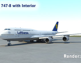 3D model Boeing 747-8 with Interior