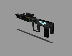 space gun 3D model realtime