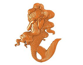 Mermaid bas-relief 3D printable model