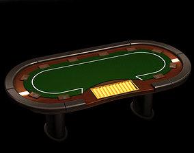 3D Poker media table