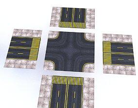 3D asset Modular Road
