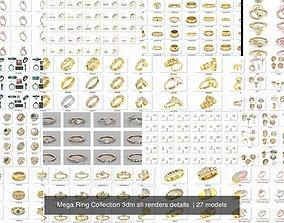 3000 Ring Mega Collection 3dm stl renders details