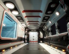 3D asset realtime Modular Sci-Fi Interior