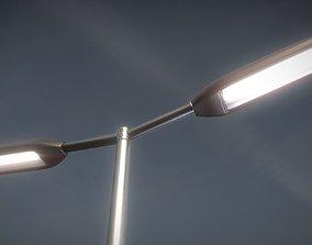 3D asset realtime Street-Light 11 Pole-2 Version-4