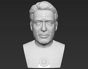Tony Stark Robert Downey Jr Iron Man bust ready for 3D