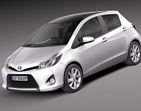 3D model Toyota Yaris Hybrid 2013