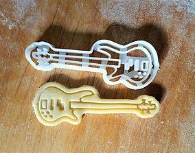 3D printable model Bass guitar cookie cutter
