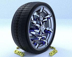 3D ORTAS CAR RIM 30 GAME READY RIM TIRE AND DISC