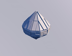 3D model Sci Fi Object No 24 - Pyramid Sphere Torus 2019 1