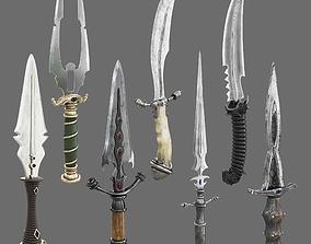 Set of Graceful Blades 3D