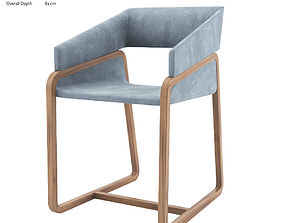 CHIC ARMCHAIR TONON COLLECTION SANDLER SEATING 3D